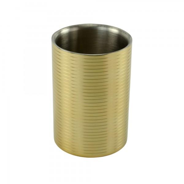 Weinkühler Flaschenkühler Sekt-Kühler Sektkübel Champagnerkühler Edelstahl gold
