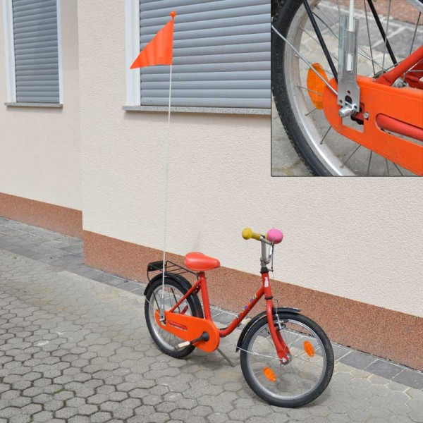 Fahrrad-Wimpel Sicherheitswimpel Fahne Fähnchen Flagge 0,75 & 1,5m orange Wimpel