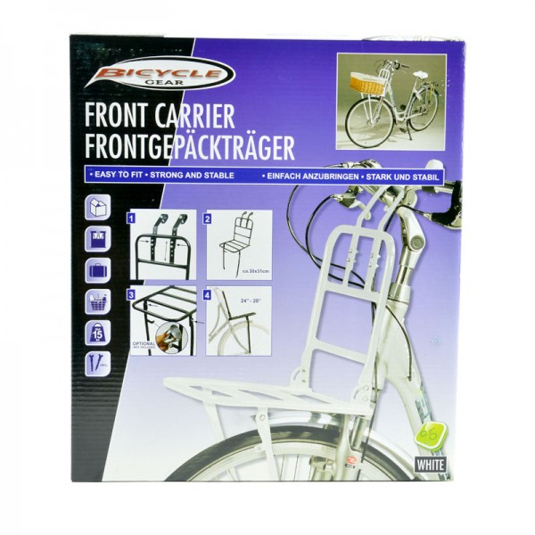 Fahrrad-Front-Gepäckträger Gepäck Fahrradkorb Vorderrad-Gepäckträger vorne