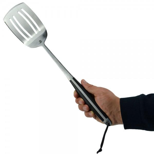 Flash Grillwender Premium BBQ Grillspachtel Grillbesteck geschmiedet Edelstahl