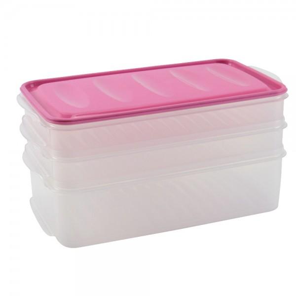 Aufschnittdosen Set Vorratsbox Frischhaltebox Stapel-Box Dose Kühlschrank-Box