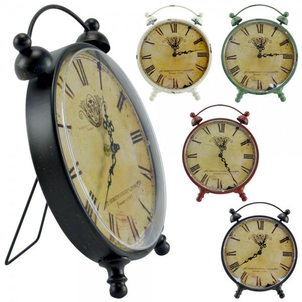Retro Wecker Standuhr Tischuhr Kaminuhr Küchenuhr Uhr Vintage Antik Shabby XL