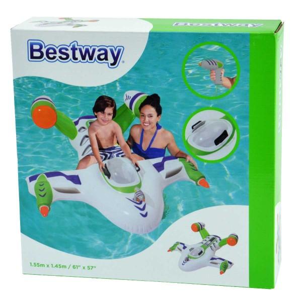 Bestway Wasser-Flugzeug Luftmatratze Raumschiff Wellenreiter Pool aufblasbar