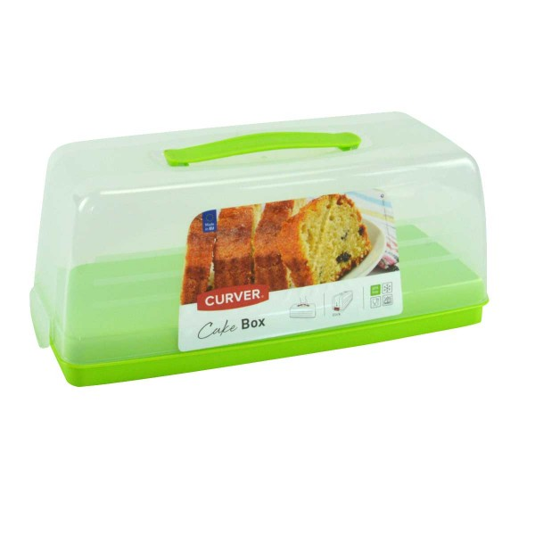 Curver Kuchen-Transportbox Transportbehälter Kuchenhaube Party-Container grün