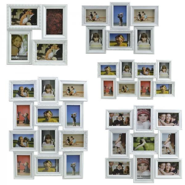 Bilderrahmen Foto-Collage Bilder-Galerie Multi-Rahmen 3D Antik Barock Landhaus