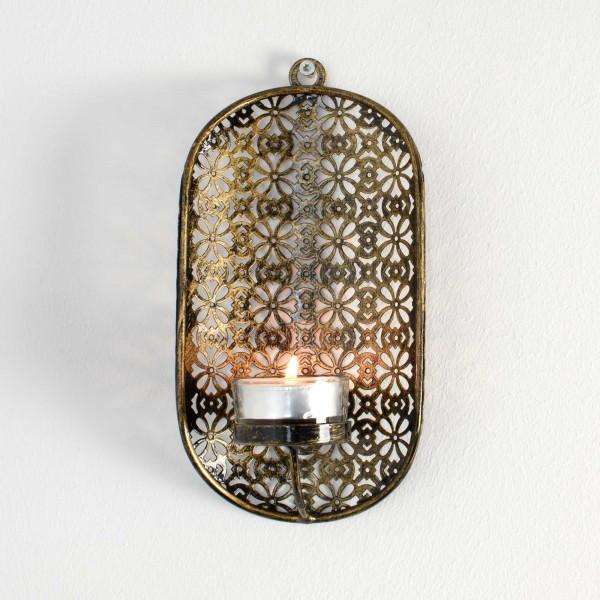 Wandkerzenhalter 2er Set Teelichthalter Wand-Kerzenhalter Kerzenständer Metall