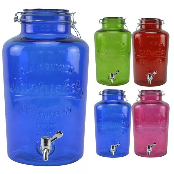 Getränkespender 8L mit Bügelverschluss Wasserspender Dispenser Glas Zapfhahn