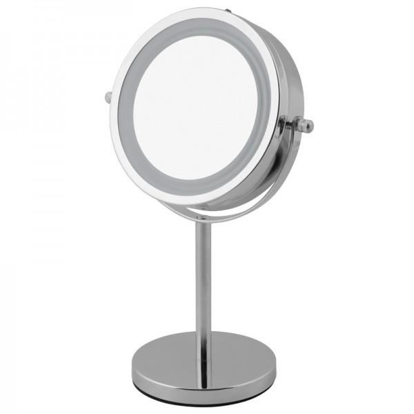 Kosmetikspiegel LED beleuchtet Schmink-Spiegel Standspiegel Rasierspiegel 5-fach