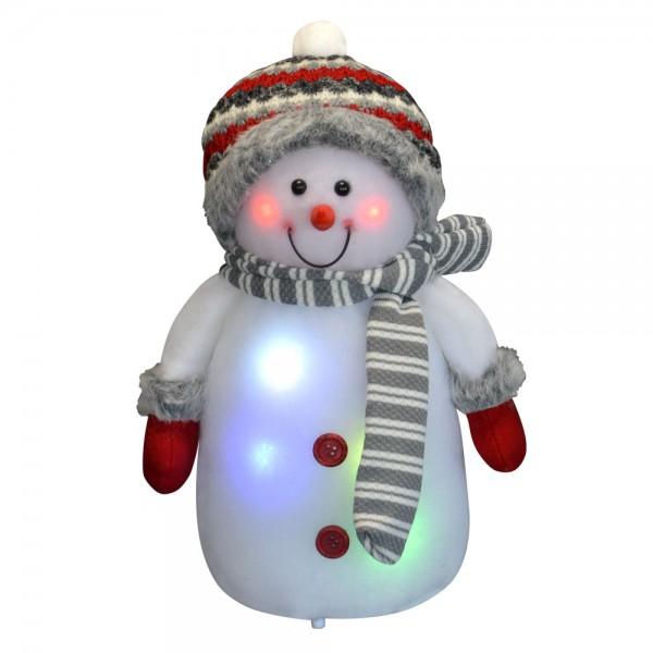 Deko Schneemann LED Beleuchtung Licht Weihnachten Weihnachtsdeko Figur Dekofigur