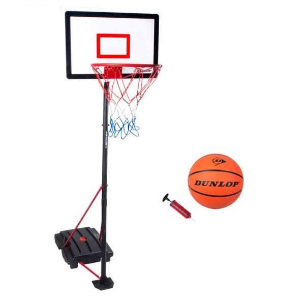 Basketball-Set Dunlop Basketballkorb Basketballständer inkl. Basketball & Pumpe