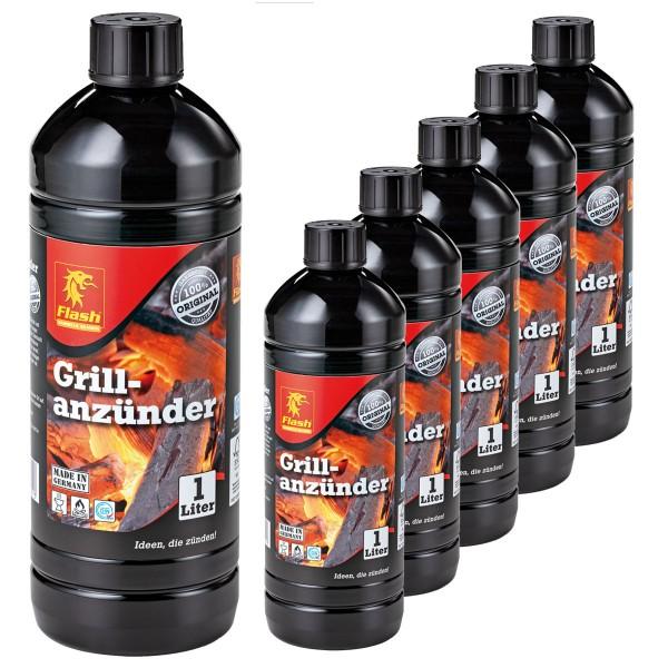 6 Liter Flash Grillanzünder Grill-Anzündhilfe Flüssig-Anzünder BBQ