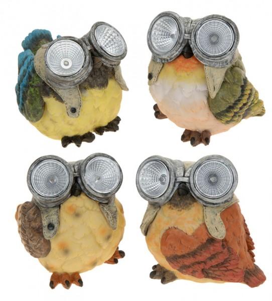 Solarvögel Solarlampe Solarleuchte Solar-Licht Vogel Garten-Beleuchtung LED NEU