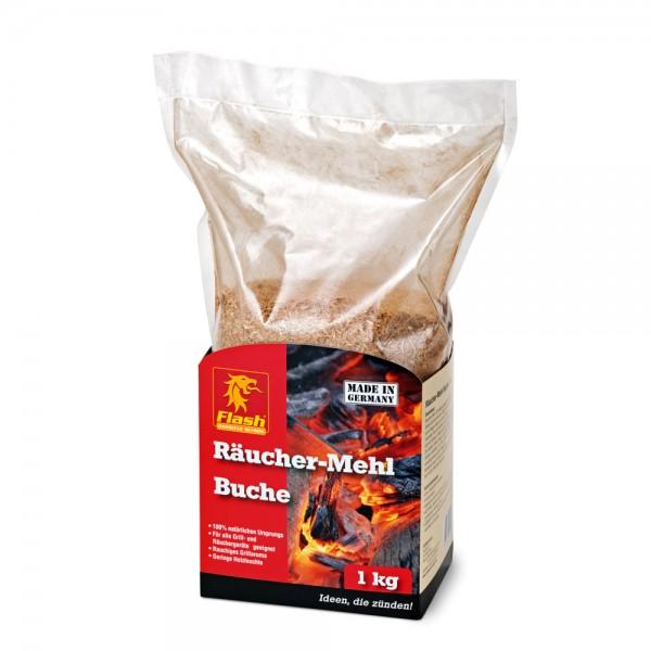 Flash Räucher-Mehl Buche 1kg Räucherspäne Buchenmehl BBQ Smoker Fisch Fleisch