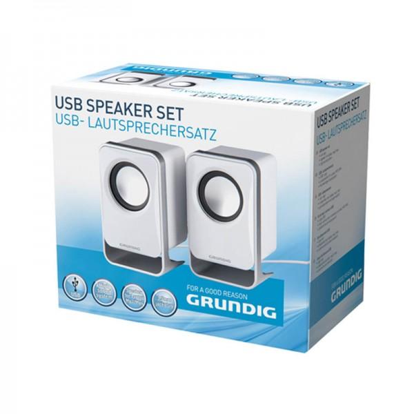 Grundig USB Lautsprecher Multimedia-Boxen Speaker für PC Laptop MP3 MP4 CD DVD