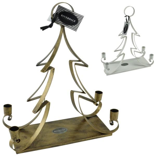 Riverdale Kerzenständer Weihnachtsbaum Kerzenleuchter Adventskranz Deko Metall