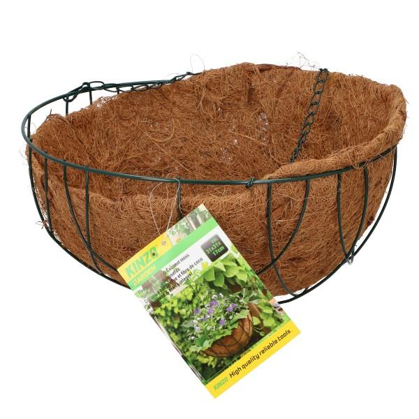 Kinzo Blumenampel Kokoseinsatz Blumen-Korb Hängeampel Kokos-Einlage 31cm