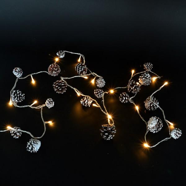 LED Lichterkette Tannenzapfen Weihnachtsbeleuchtung Weihnachten Weihnachts-Deko