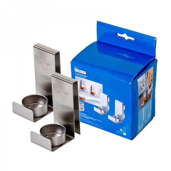 2er Set Teelichthalter Saugnapf Wandkerzenhalter Kerzenständer Badezimmer Kerze