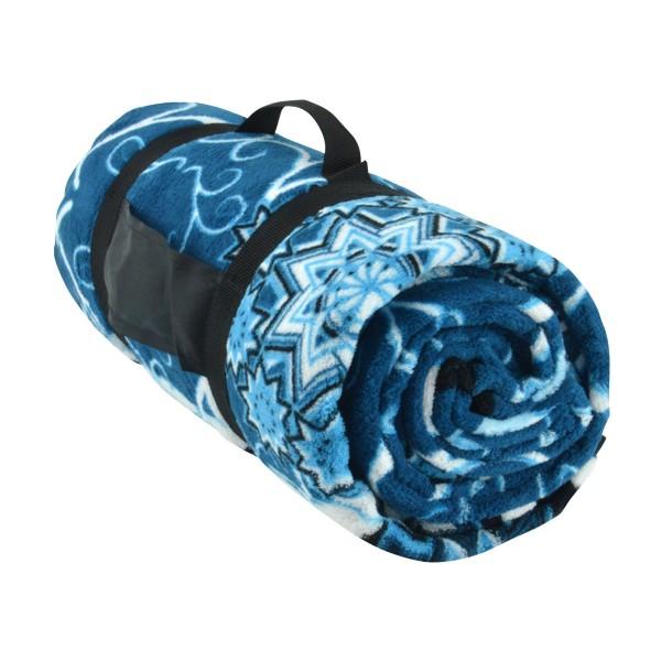 XL Picknickdecke Fleece Camping-Decke Stranddecke Matte Reisedecke 180x135cm
