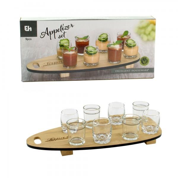 Vorspeisen-Set Appetizer Amuse-Gueule Fingerfood Dessertgläser Tapas-Tablett