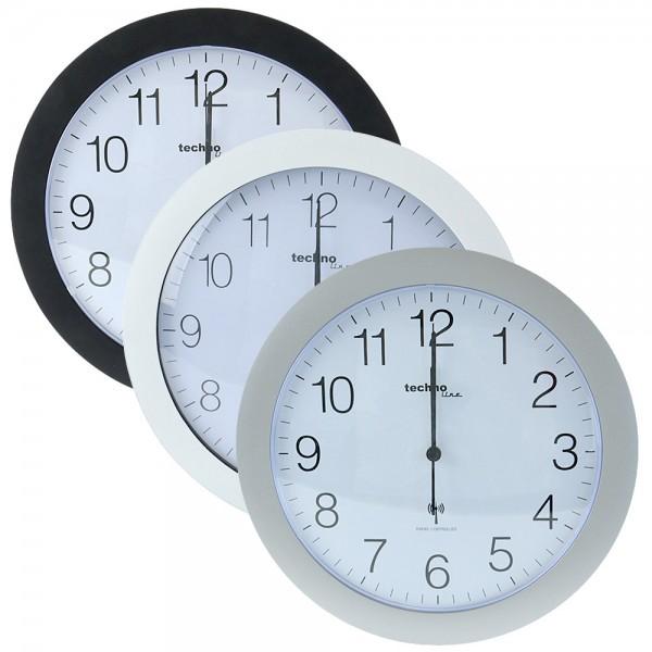 Funkuhr TechnoLine WT8000 Funkwanduhr analog Küchen-Uhr Bahnhofsuhr 30cm