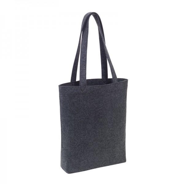 e3b3f89fe3813 Einkaufstasche Filz Stoff-Tasche Shopper Filztasche Einkaufs-Korb  Umhängetasche