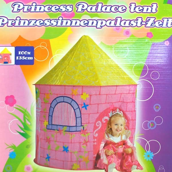 Prinzessinnen-Palast Zelt Kinderzelt rosa Spielhaus Prinzessin Spielzelt NEU