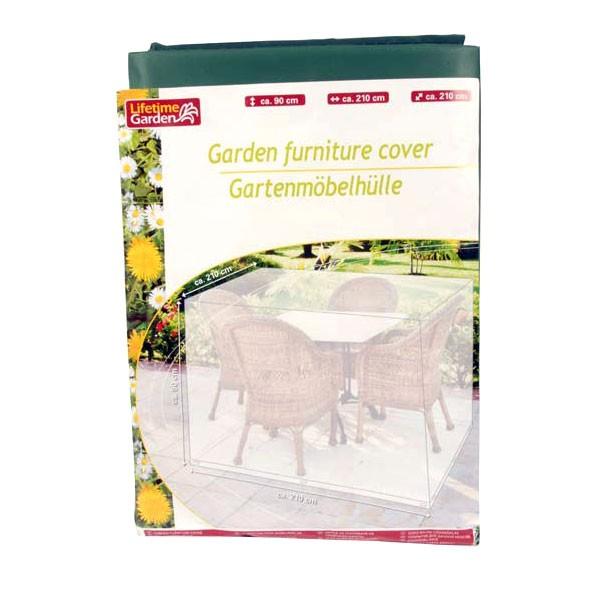 Gartenmöbelhülle 210x210x90cm Abdeckplane Gartenmöbel-Schutzhülle Schutzhaube