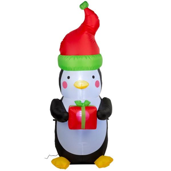 Weihnachtsfigur Pinguin aufblasbar Weihnachten Weihnachtsdeko Nikolaus 180cm