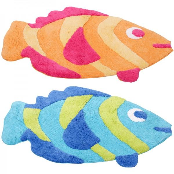 Badematte Fisch Badvorleger Badteppich Duschvorleger Badezimmer-Teppich Vorleger