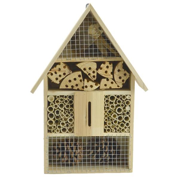 XL Insektenhotel Nistkasten Insektenhaus Brutkasten Vogel Bienen Garten 37,5cm