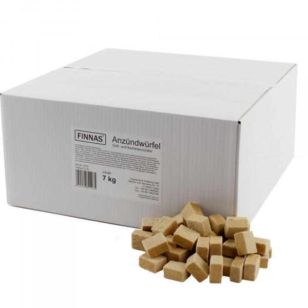 7 kg FINNAS Öko Holz-Wachs-Anzünder Grillanzünder Anzündwürfel Kaminanzünder