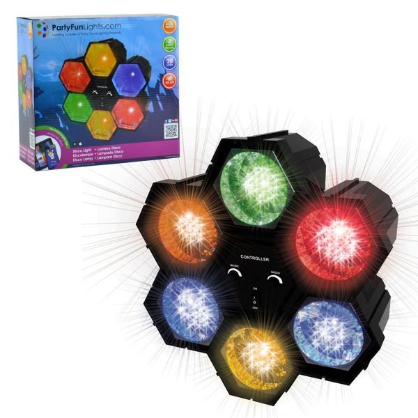 Lichtorgel 6-Kanal 30 LED Party-Licht Lauflicht Disco Klangsteuerung DJ NEU