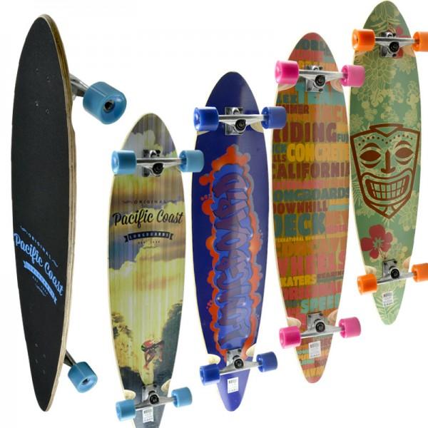 """Longboard Skateboard Penny Surf-Board Street-Surfer Fun Deck Komplett ABEC7 44"""""""