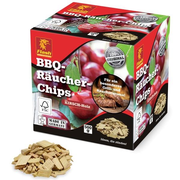 Flash BBQ-Räucher-Chips Kirsch-Holz 500g Räucherspäne Räucher-Holz Grill