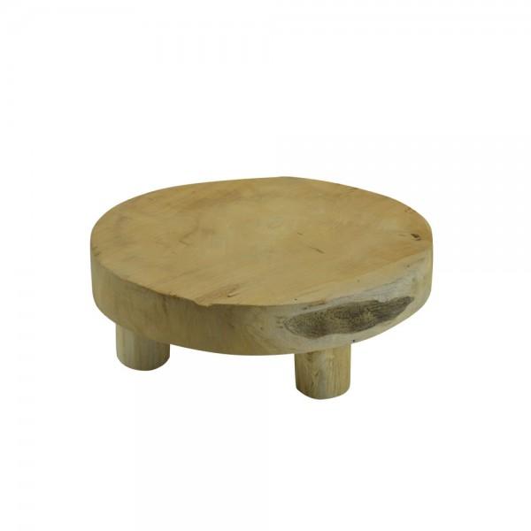 Teak-Tisch mini Teakholz Holz-Tischchen Blumenständer Etagere Pflanzenhocker