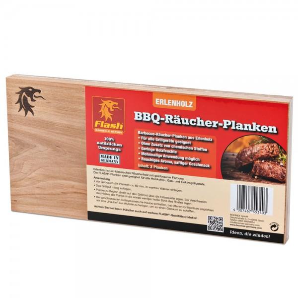 Flash Räucherbrett BBQ-Räucher-Planken 2 Stück Grillbrett Grill Smoker Erlenholz