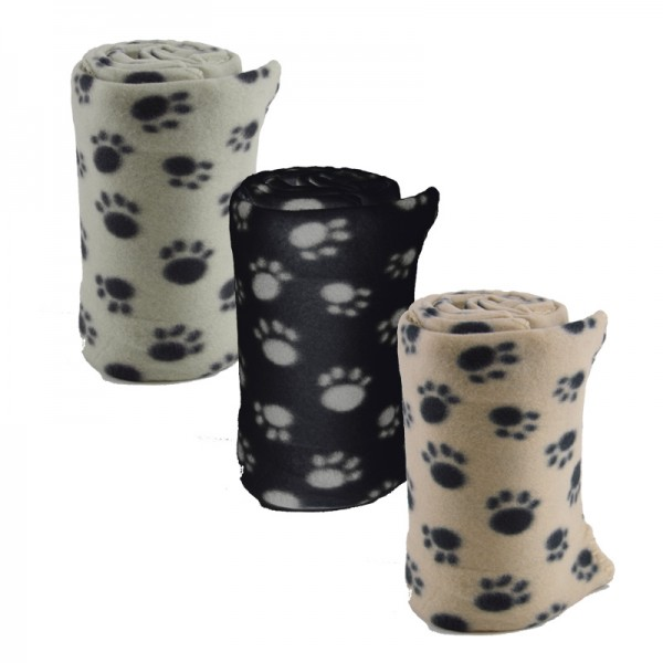 Haustierdecke Pfötchen Fleece-Decke Hunde-Decke Katze Tierdecke Liegedecke NEU