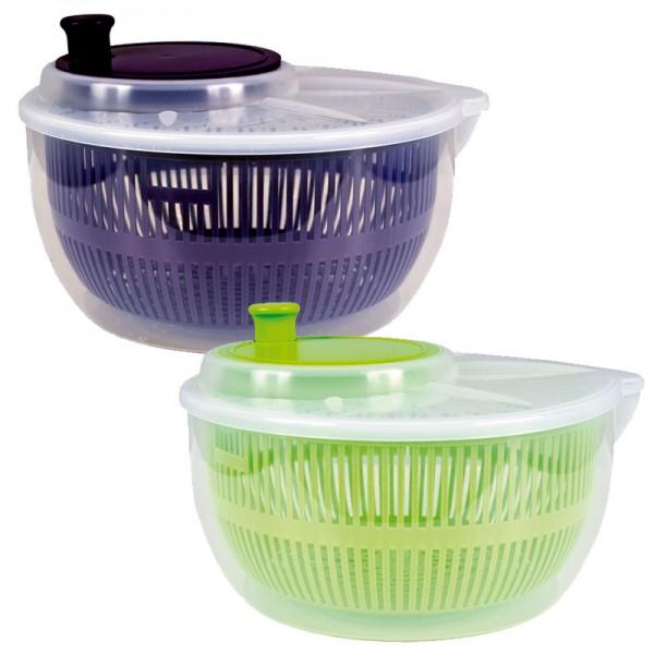 Salatschleuder Salat Schleuder Salattrockner Sieb Salatmanager Kurbel Schüssel