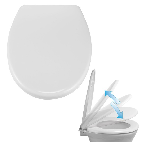 Toiletten-Sitz Absenkautomatik Duroplast Deckel WC Klo-Brille Schnellverschluss