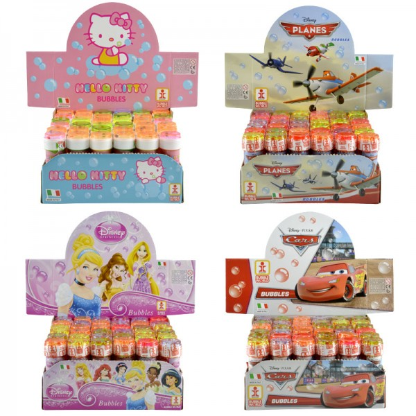 36x Seifenblasen Set Display Disney CARS PLANES PRINCESS HELLO KITTY