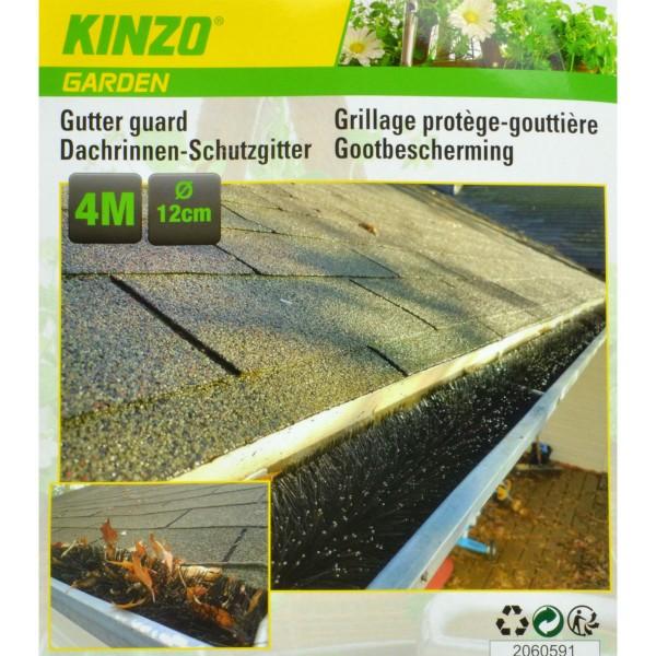 Dachrinnen-Schutzgitter 4 Meter Dachrinnenbürste Laub-Schutz Rinnenraupe Marder