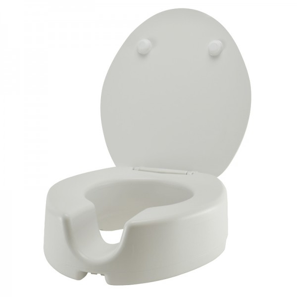 Toilettensitzerhöhung Toilettenaufsatz Sitzerhöhung Duroplast Absenkautomatik WC