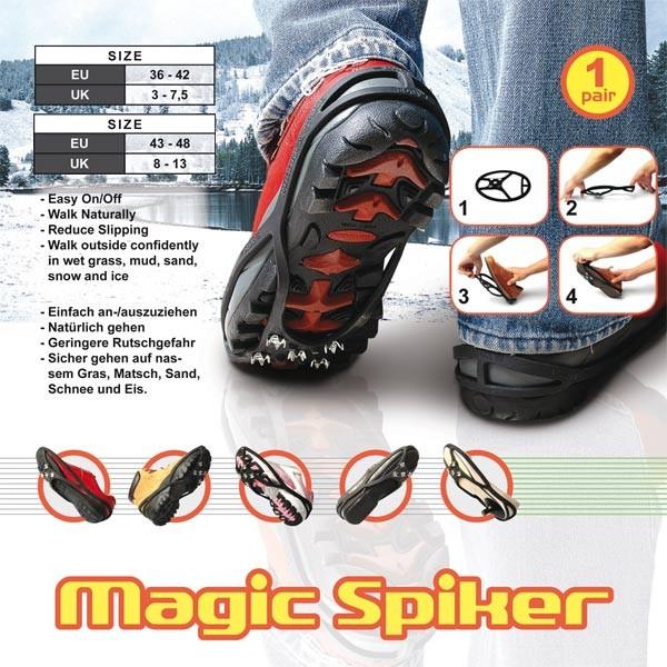 Schuhspikes Schuhkrallen Spikes Eiskralle Schuhketten Schneeketten Größe 36-48