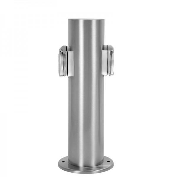 Steckdosensäule Edelstahl Außensteckdose Gartensteckdose Energiesäule Außen IP44