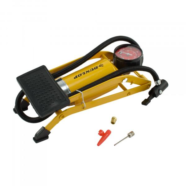 Dunlop Fuß-Luftpumpe Manometer Ballpumpe Luftpumpe Fahrradpumpe Pumpe 8 bar