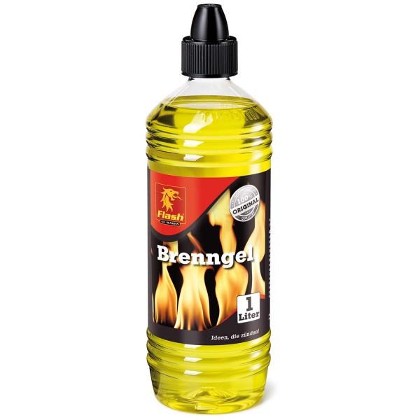 Flash Brenngel 1L Brennpaste Anzündpaste Gel-Kamin Fondue Ethanol Tischfeuer