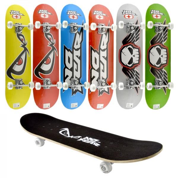 """Longboard NO FEAR Skateboard Penny Surf-Board Street-Surfer Deck Komplett 30"""""""