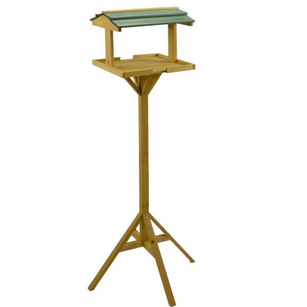 Vogelfutterhaus mit Ständer Vogelfutter-Häuschen Futterspender Vogelhaus 116cm