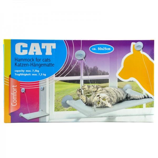 Katzen-Hängematte Katzenbett Liegemulde Fenster-Hängebett Katzen-Körbchen Korb